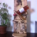 Casier à vin Porte bouteille et verres à poser