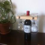 Porte verres sur bouteille de vin (2 ou 4 verres)